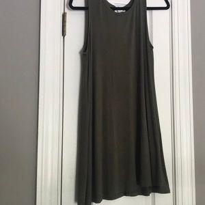 Forever 21 olive shift dress